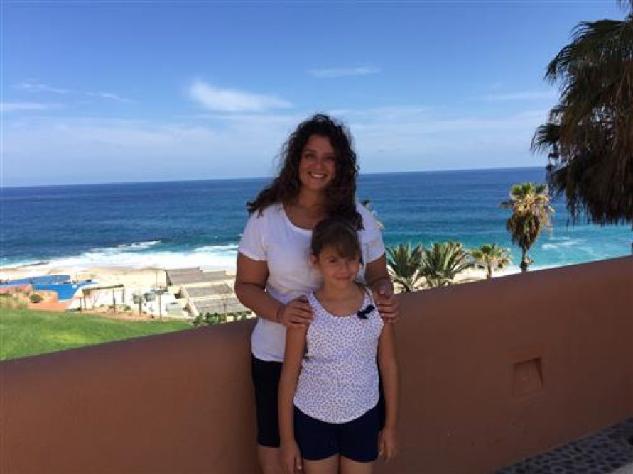 Ms. Ramos and her daughter in Cabo San Lucas