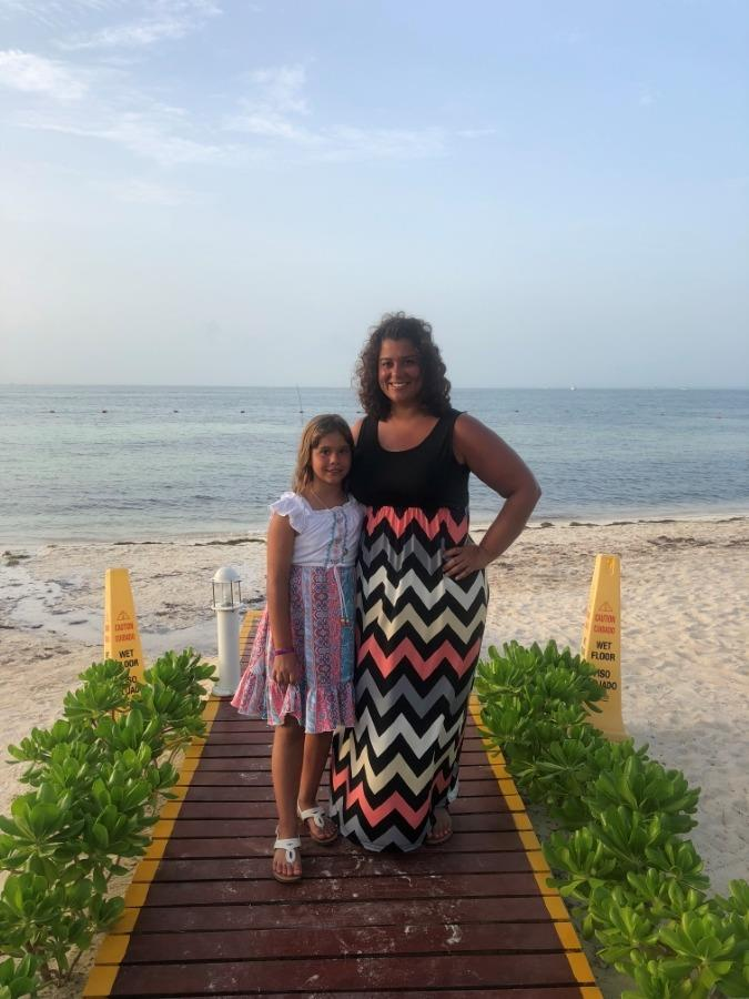 Ms. Ramos and her daughter in Cancun 2018