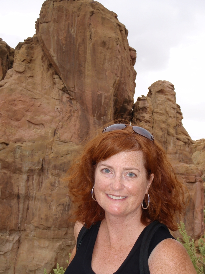 picture of Ms. Magwood in at Arches National Park