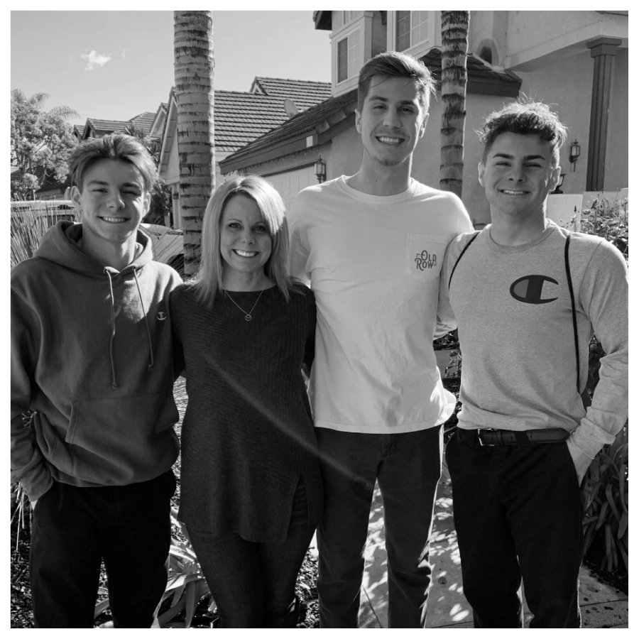 Ms. Stephens & her 3 sons.